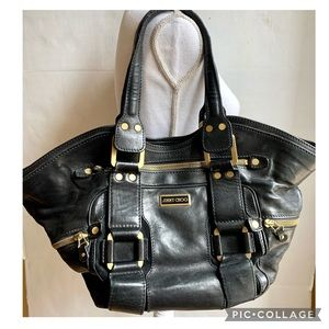 VINTAGE JIMMY CHOO LEATHER SATCHEL